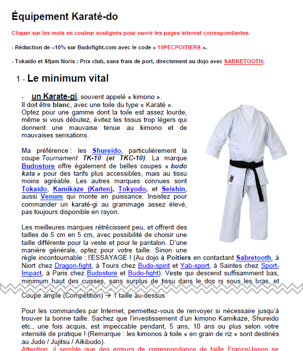 Equipement karate do thumb